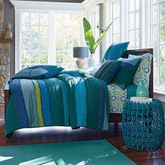 Lola Handmade Quilt in Blue Multi