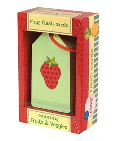 Counting Fruits & Veggies Ring Flashcards