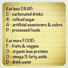 Less crap, more food! #EatHealthy #StayHealthy #FreedomHealthyOil