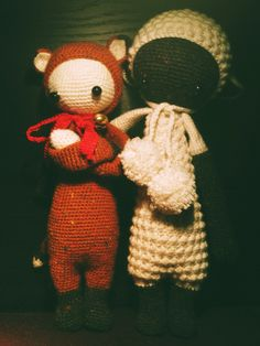 FIBI the foy & LUPO the lamb made by Constanze P. / crochet patterns by lalylala