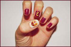 "barcelona nails from deviant art artist ""~martinrivass"" - I would totally do this!"