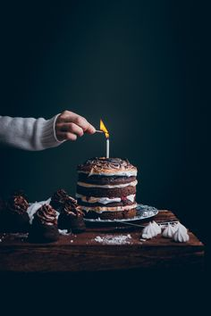 Chocolate Cake 50 g melted butter, cooled 170 g all-purpose flour 30 g Unsweetened Cocoa powder 1 tsp baking powder 1/2 tsp baking soda 200 g white sugar 1 large egg 170 g Buttermilk or plai…