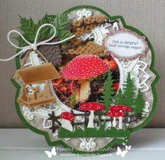 Christmas Cards, Christmas Ornaments, 3d Cards, Marianne Design, Halloween, Tea Pots, Decoupage, Autumn, Big Shot