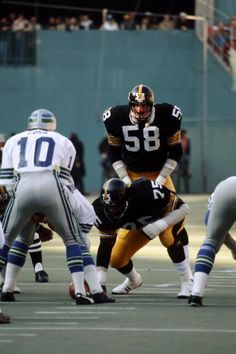 Jack Lambert & Joe Greene at the Championship House 3 Rivers Stadium