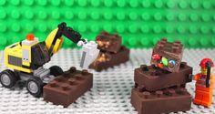 Maak je eigen gevulde LEGO chocolade blokjes in een handomdraai! Superleuk voor kinderfeestjes! - Zelfmaak ideetjes
