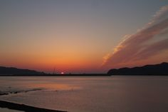北上川河口の日の出 Kita Kami River Sunrise