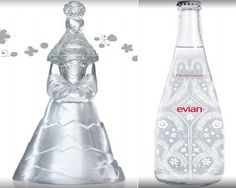 Evian water brand is well known for its quality service. The latest Evian bottle is more than a beautiful bottle of water, designed by Christian Lacroix, the French fashion designer. Christian Lacroix, Water Branding, Container Design, French Fashion Designers, Show Photos, Bottle Design, Packaging Design Inspiration, Water Bottle, Bottled Water