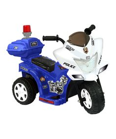 Another great find on #zulily! Kid Motorz Blue & White Lil' Patrol Motorcycle Ride-On by Kid Motorz #zulilyfinds