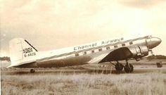 CHANNEL AIRWAYS  DC-3 DAKOTA  AT PORTSMOUTH AIRFIELD