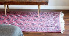 Vintage Persian Pink Area Rug 4x6 - Bedside rug, Area Rug, Living Room Rug