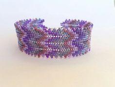 Multicolored Peyote Bracelet Beadwork Bracelet by ByElir on Etsy