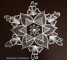 Latest Arabic Mehndi Designs, Rangoli Designs Latest, Rangoli Designs With Dots, Rangoli Patterns, Rangoli Kolam Designs, Free Hand Rangoli Design, Simple Rangoli, Krishna, Diys