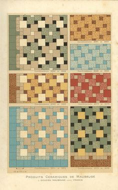 Ceramic Tile Patterns From A 1928 Catalog By Douzies Maubeuge