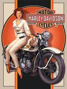 Oh, yeah! Pin-up and a Harley!