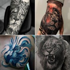 Best Lion Tattoos For Men: Cool Lion Tattoo Designs and Ideas For Guys #tattoos #tattoosforguys #tattoosformen #tattooideas #tattoodesigns #liontattoo #cooltattoos Leo Lion Tattoos, Lion Back Tattoo, Lion Tattoo On Finger, Female Lion Tattoo, Mens Lion Tattoo, Cool Tattoos For Guys, Badass Tattoos, Full Arm Tattoos, Sleeve Tattoos