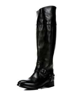 Maple and West Frye Women's Lindsay Spur Boot - Black