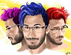Markiplier - The Trifecta of Hair by Ayeri.deviantart.com on @DeviantArt