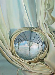 SOLO SALE EL SOL. Pintura, Óleo/tela, 80 x 60 cm. Jorge Luna. (pintor mexicano).