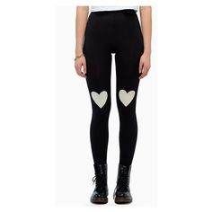 Casual Heart Stretchy Leggings For Women (40 PLN) ❤ liked on Polyvore featuring pants, leggings, stretch leggings, legging pants, white leggings, stretch trousers and white trousers