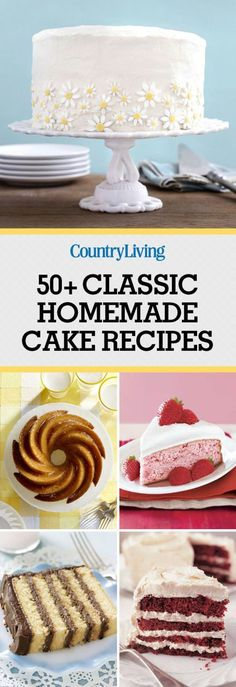 Pin these cakes!  Don't forget to pin these delicious cakes! Make sure to follow Country Living on Pinterest for more great dessert recipes.