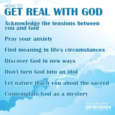 How to Get Real with God