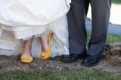 the bride wore yellow shoes - jan michele photography - Virginia Handmade Wedding