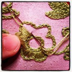 filling in Baranya floral motif