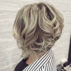 curly inverted bob hairstyle