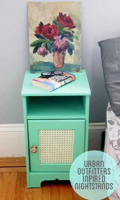 Creative and Small DIY Nightstand Ideas   Urban Outfitters Inspired Nightstand by DIY Ready at http://diyready.com/17-creative-and-cheap-diy-nightstands/