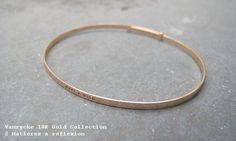 En or... // Vanrycke Make a wish gold bracelet @ Matières à réflexion