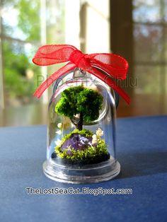 Tree of Life Christmas Ornament Raw Amethyst by phoenixchiu