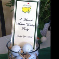 Masters Party - table decor