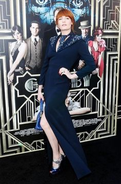 Florence at the great gatsby premier, looking classy