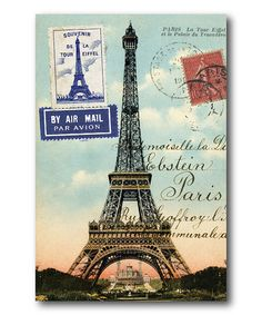 Look what I found on #zulily! Paris Postcard III Wrapped Canvas #zulilyfinds