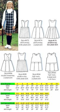 Gloria's Uniforms offers jumpers, skirts and culottes come from America's uniform manufacturer School Girl Dress, School Dresses, Catholic School Uniforms, Girls Pinafore Dress, School Uniform Skirts, Kids Uniforms, Girls Tunics, Modelista, Patron Couture