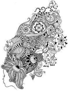 More commissioned works 2011 by Sveta Dorosheva ~ Rehovot, Israel ~ This piece is NOT labeled as Zentangle by the artist, but it has definitely inspired some Zentangle work from me.