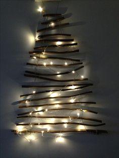Ja gelukt!  Kerstboom van het snoeiafval van onze Catalpa.
