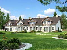 Projekt domu Fasano IV 148,2 m2 - koszt budowy - EXTRADOM Duplex Design, Home Fashion, Mansions, House Styles, Gemini, Home Decor, Twins, Decoration Home, Manor Houses