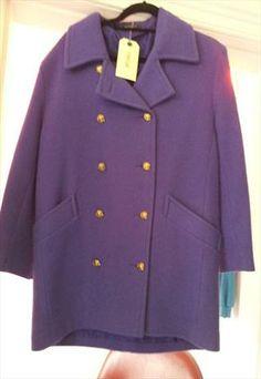 purple wool coat £25 Winter Months, Wool Coat, Coats For Women, Fancy, Denim, Purple, Jackets, Fashion, Down Jackets