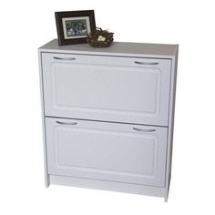 Shop 4d concepts 24 pair white composite shoe cabinet in the shoe storage section of Lowes.com
