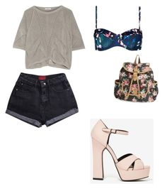 """""""Untitled #1540"""" by slayyeettia ❤ liked on Polyvore featuring Helmut Lang, Ted Baker and LULU"""