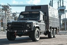 This Turbo-Charged Land Rover Camper Is The Ultimate Classic Overlander Off Road Camper, Truck Camper, Enfield Electra, Nardo Grey, Headlight Covers, Overland Trailer, Benz G Class, Land Rover Defender 110, Expedition Vehicle