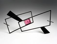 COSMIMA - JEWELLERY-Daphne Krinos. ........Connie Fox: Pink rectangle draws the eye