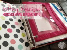 Getting Organized - Housekeeping Binder 2015 | Happily Ever After Etc.