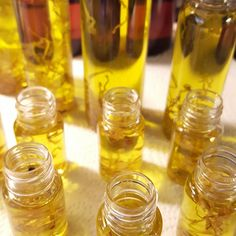 Fresh made Mandarin Frank Healthy Hair and Body Oils ready to go! Try one today.