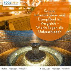Sauna, Infrarotkabine und Dampfbad im Vergleich – Worin liegen die Unterschiede? #sauna #infrarot #dampfbad #infrarotkabine #wellness #vergleich #unterschied
