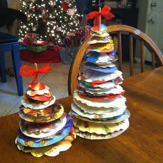 Christmas Card Trees -- Reuse of Christmas cards