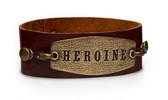 ThinkGeek :: Heroine Leather Cuff