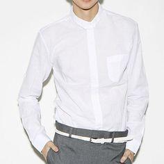 Minimalist Collar White Dress Shirt | URBANE CONVICTION Alpha Male, Dress Shirt, White Dress, Minimalist, Shopping, Style, Fashion, Moda, Button Down Shirt