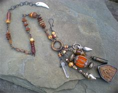 Ancient Memories Shaman Amulet Charm Necklace by maggiezees
